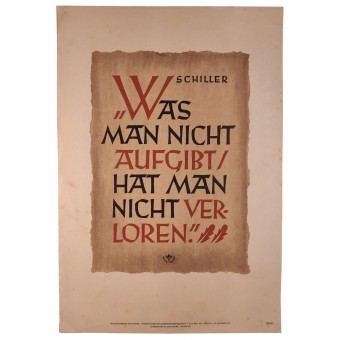 Propaganda poster. What is not abandoned is never completely lost. Espenlaub militaria