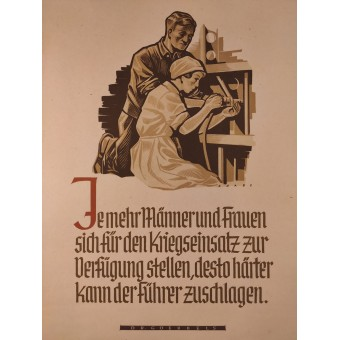 The more men and women are available for the war effort, the harder the Führer can strike. Espenlaub militaria
