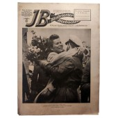 """The Illustrierter Beobachter #20 May 1943. Cheering reception of brave """"wolves"""" in a submarine base"""