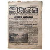 Das kleine Volksblatt - 17th of October 1941 - Odessa captured, the fourth Romanian army marched into the city