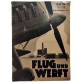 the Flug und Werft - vol. 12, 19th of December 1938 - International Aviation Exhibition Paris 1938