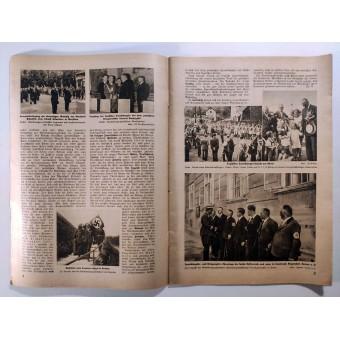 The Deutsche Kriegsopferversorgung, 12th vol., September 1938 The Führer greets his wartime frontline comrade. Espenlaub militaria