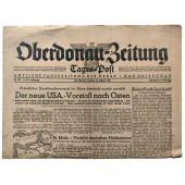 The Oderdonau-Zeitung - NSDAP daily newspaper of Upper Danube region - 18th of August 1944