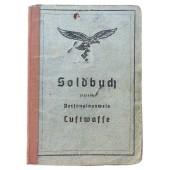 Luftwaffe Soldbuch issued to Hauptmann of antiaircraft artillery