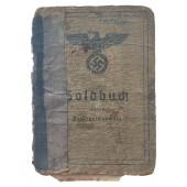 The Soldbuch issued to private from transport unit