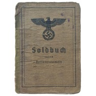 The Soldbuch issued to Unteroffizier who served in field bakery