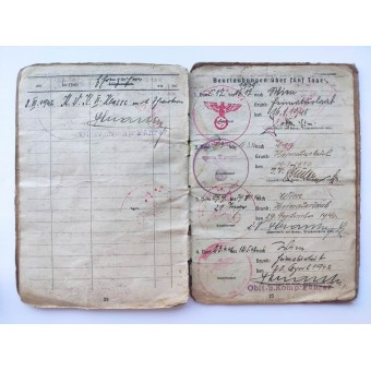 The Soldbuch issued to Unteroffizier who served in field bakery. Espenlaub militaria