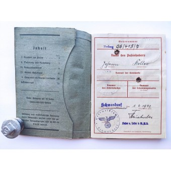 The Wehrpass issued to WW1 veteran and POW. Espenlaub militaria