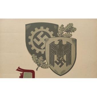 3rd Reich WW2 German propaganda poster.. Espenlaub militaria