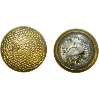 12 mm Luftwaffe, Wehrmacht Generals or NSDAP gold plated brass button. Espenlaub militaria