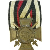1914-1918 commemorative cross for combatant in WW1 on the medal bar