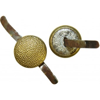 3rd Reich 12 mm Luftwaffe, Wehrmacht Generals or NSDAP gold plated brass button with prongs for visor hat .. Espenlaub militaria
