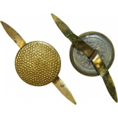 3rd Reich Generals or NSDAP gold buttons for headgear with prongs