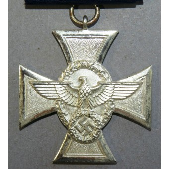 3rd Reich Police long service decoration, 2nd class, for 18 years.. Espenlaub militaria