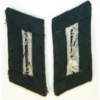 3rd Reich Wehrmacht collar tabs for infantry officer. Tunic removed. Espenlaub militaria