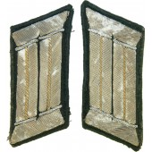 3rd Reich Wehrmacht collar tabs for infantry officer. Tunic removed