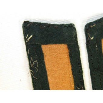 3rd Reich Wehrmacht Gebirgsjager collar tabs, private firm made example. Espenlaub militaria