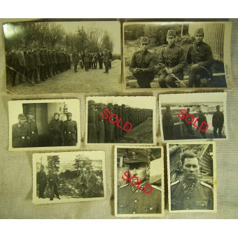 Set of the photos belonged to Latvian officer of the SS in 15th Waffen Gren.r Div. SS. Espenlaub militaria