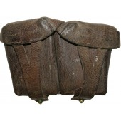 M37 Soviet Russian leather ammo pouch for Mosin rifle