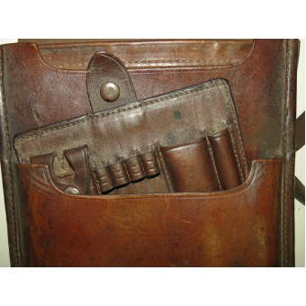 Soviet Russian M 32 brown leather mapcase with holder for pencils. Espenlaub militaria
