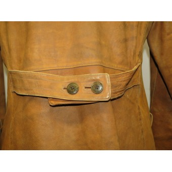 WW1 Imperial Russian Czarist leather jacket for aviators or a vehicle drivers, also  worn by Red Guards commanders and political leaders. Espenlaub militaria
