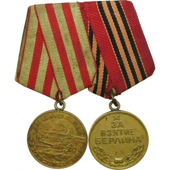 WW2 medals bar: Medal for the Defense of Moscow and  for the Capture of Berlin.. Espenlaub militaria