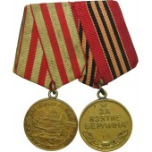 WW2 medals bar: Medal for the Defense of Moscow and  for the Capture of Berlin.