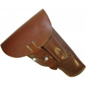 Luftwaffe or NSDAP 7,65 Mauser pistol, brown leather holster dated 1942