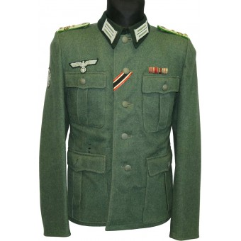 M36 Feldbluse tunic converted/re-tailored for combat officer Gebirgsjager Regiment 138. Espenlaub militaria