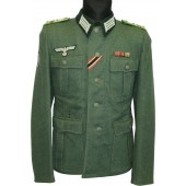 M36 Feldbluse tunic converted/re-tailored for combat officer Gebirgsjager Regiment 138