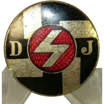3rd Reich DJ- Deutsche Jungfolk member badge within HJ. Espenlaub militaria