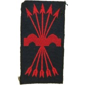 Spanish Falangist Uniform Patch - Franco Fascist, post war issue.