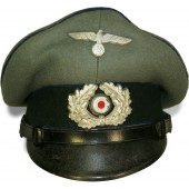Wehrmacht Heer Medical service visor hat for NCO's.