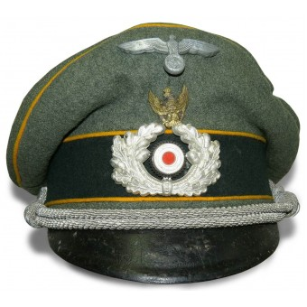 "Wehrmacht Heer Reconnaissance visor hat with  ""Swedish eagle"".. Espenlaub militaria"