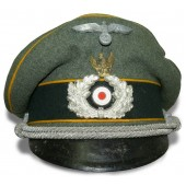 "Wehrmacht Heer Reconnaissance visor hat with  ""Swedish eagle""."