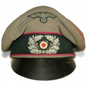 "Wehrmacht Heer Veterinary or Headquarter ""Alter-Art"" crusher hat."