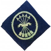 WW2 Spain España Falange pocket patch, being worn by members of division Azul