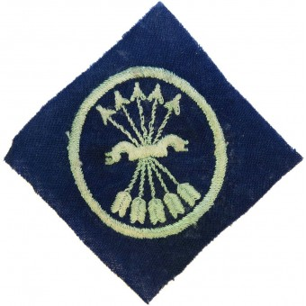 WW2 Spain España Falange pocket patch, being worn by members of division Azul. Espenlaub militaria