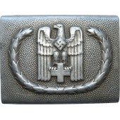 3rd Reich alu RK buckle, Rotes Kreuz - Red Cross, early type.