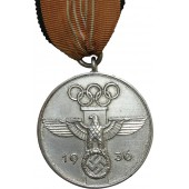 3rd Reich Olympic Games commemorative medal, 1936.