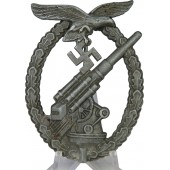 GB-Gustav Brehmer Luftwaffe FLAK badge, zinc