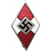 Hitler Jugend member badge, HJ, marked by M1\90