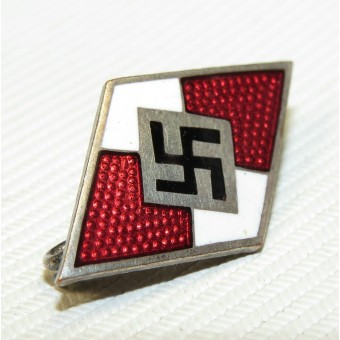 Hitler Jugend member badge, HJ, marked by M1\90. Espenlaub militaria