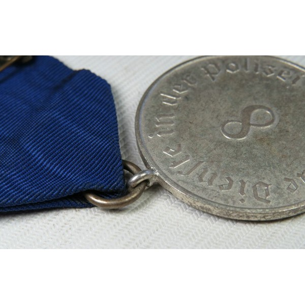 Police Long Service Award, 8 Years Of Service, Medal