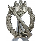 R.S. - Rudolf Souval infantry assault badge, silvered
