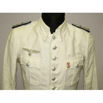 Summer walk out tunic for medic in Wehrmacht, rank Stabsarzt