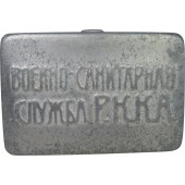 Red Army soap tray, aluminum