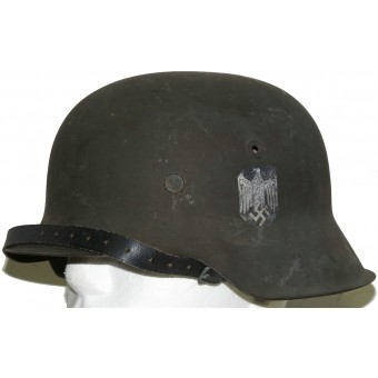 M42 Wehrmacht single decal helmet, NS64. Espenlaub militaria