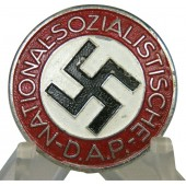 Late zink issue NSDAP member badge by Gustav Brehmer