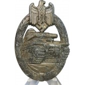 Panzer Assault badge in Bronze unmarked